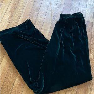 Vintage Talbots deep green velvet dress pants 8